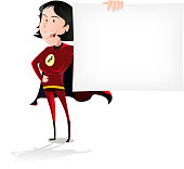 Super Hero Woman Banner