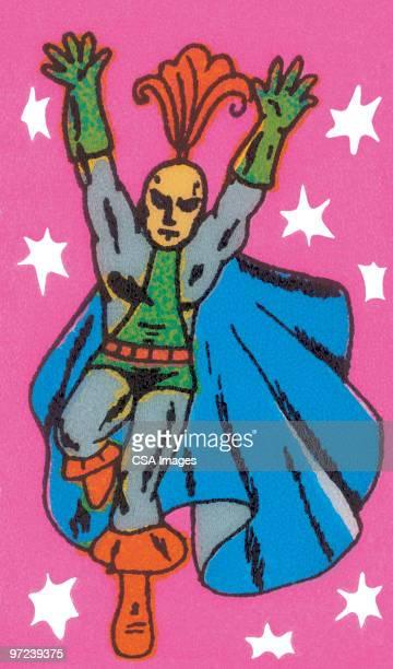 superhero - heroes stock illustrations