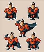Superhero in different poses