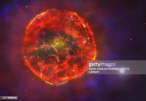 illustrazioni stock, clip art, cartoni animati e icone di tendenza di supernova ejecting a white dwarf - supernova