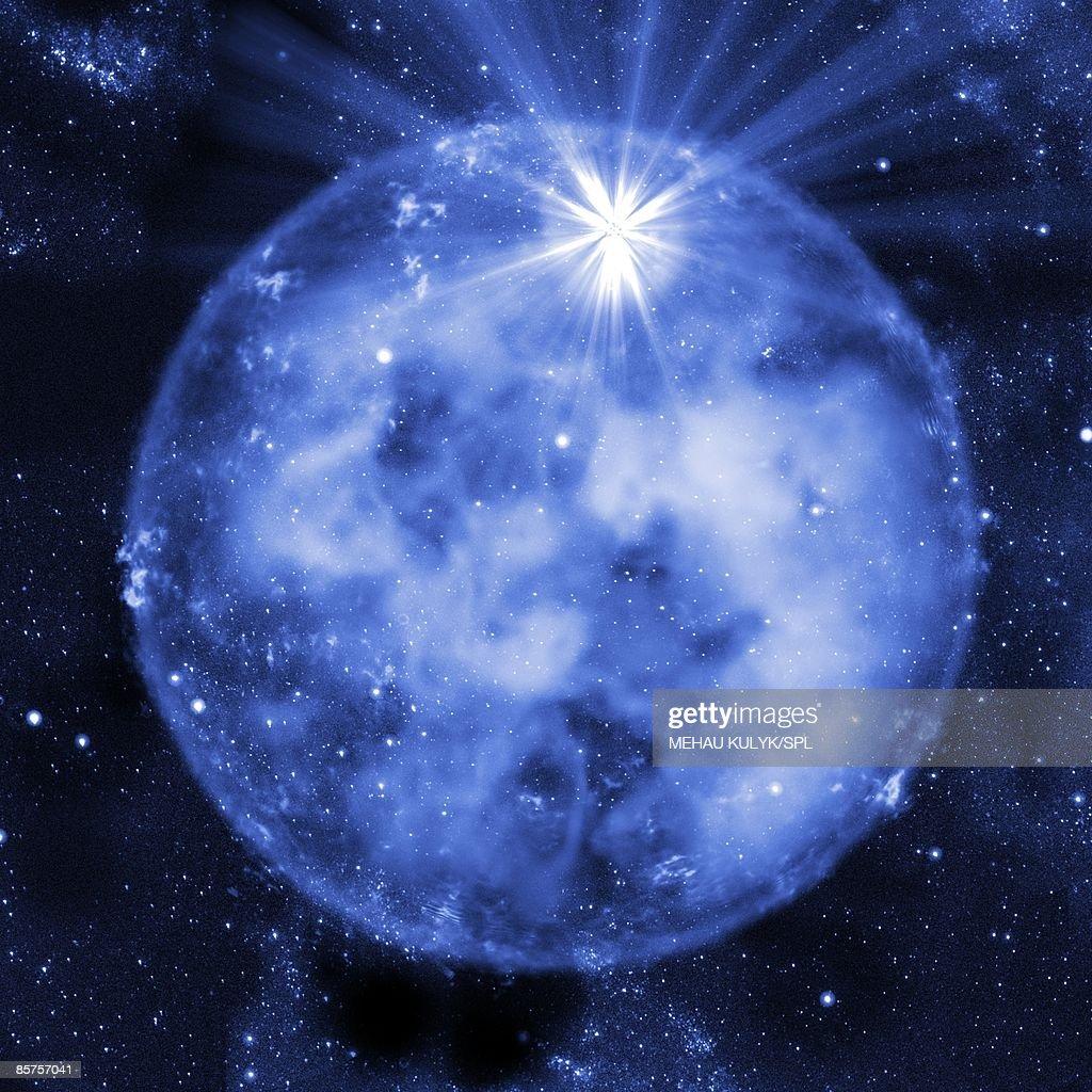 Supernova explosion : stock illustration