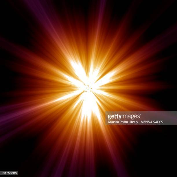 supernova explosion - lens flare stock illustrations