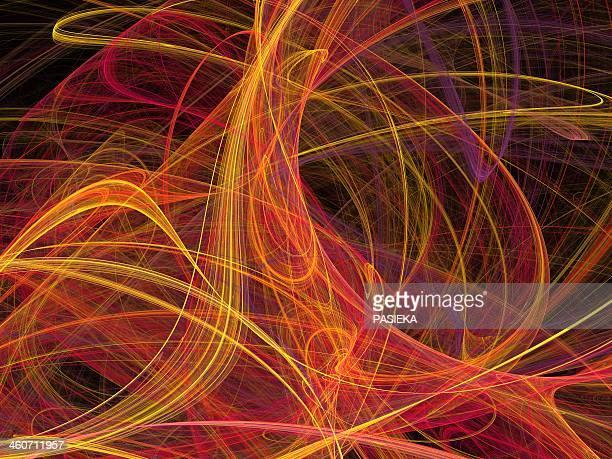 superstrings, conceptual artwork - ideas stock illustrations