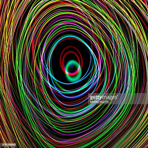 superstrings, conceptual artwork - quantum physics stock illustrations
