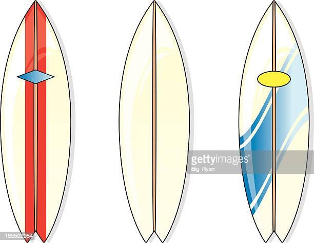 surfboards - surfboard stock illustrations