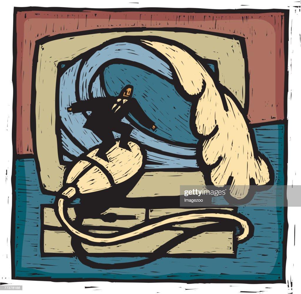 surfing the net : Illustration