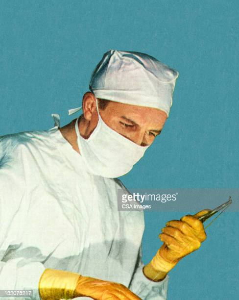 surgeon - operating gown stock illustrations, clip art, cartoons, & icons