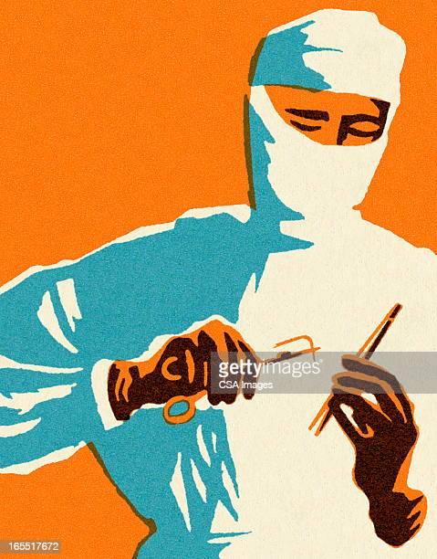 surgeon - surgeon stock illustrations, clip art, cartoons, & icons