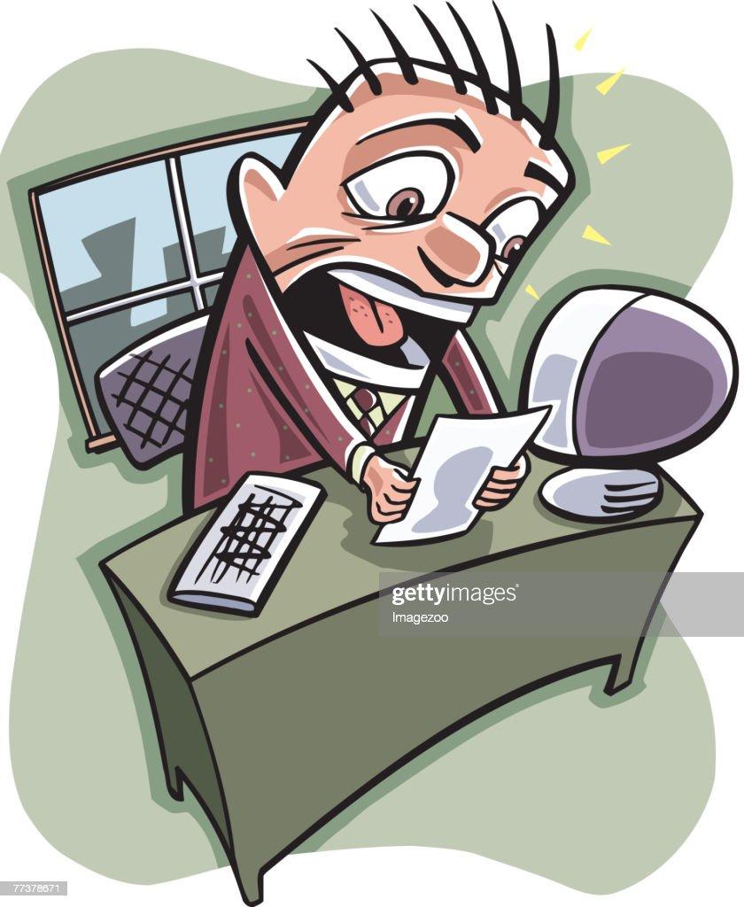 surprised businessman : Illustration