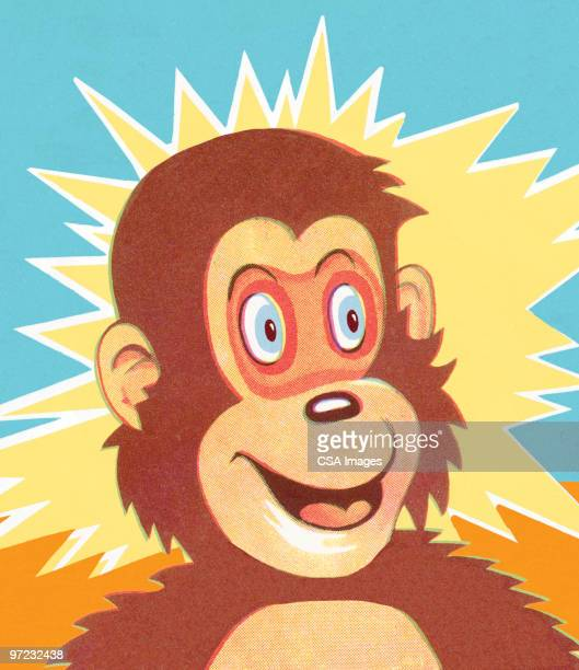 surprised monkey - surprise stock illustrations