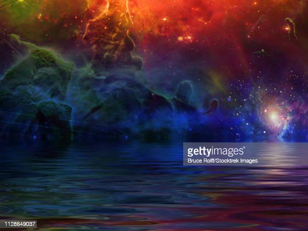 Surreal Sea and Starry Sky