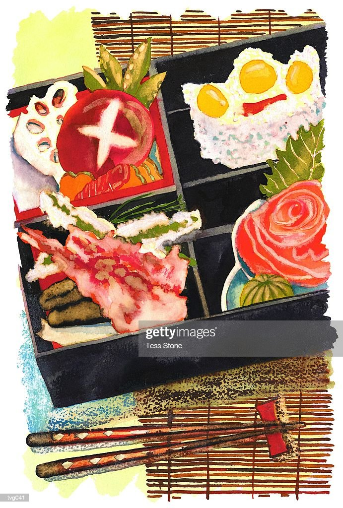 Sushi Meal : Stock Illustration