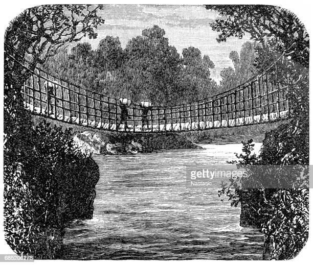 Suspension bridge in Africa