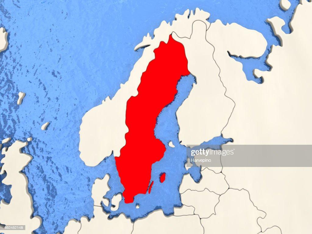 Sweden On Map Stock-Illustration - Getty Images