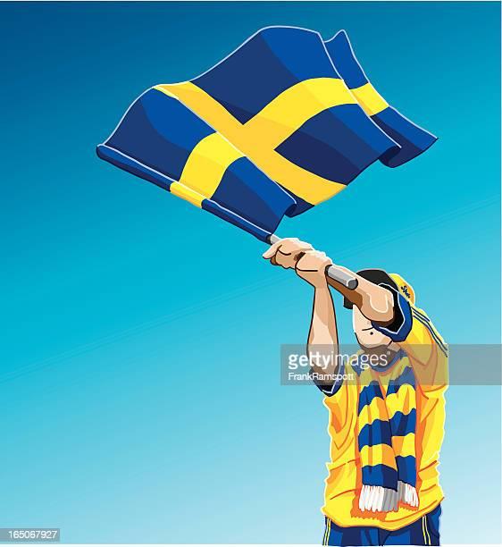 Sweden Waving Flag Soccer Fan