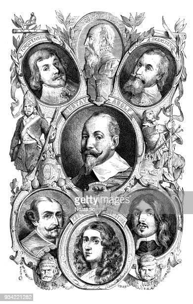 Swedish Emperors: Gustav Vasa, Gustav Adolf, Dronning Christine, A. Oxenstierna, Charles Gustav, Charles IX, Torstenson