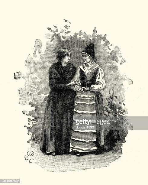 Swedish women in traditional costume, 19th Century