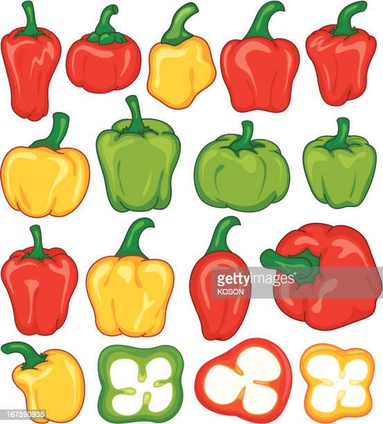 sweet pepper - red chili pepper stock illustrations, clip art, cartoons, & icons