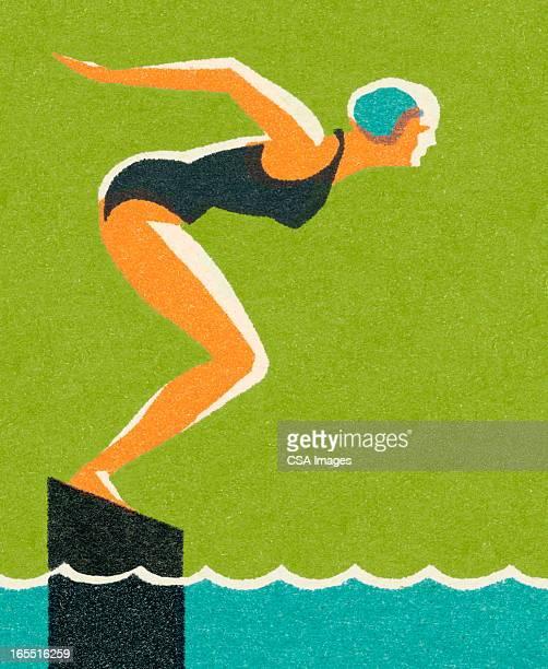 schwimmer - schwimmen stock-grafiken, -clipart, -cartoons und -symbole