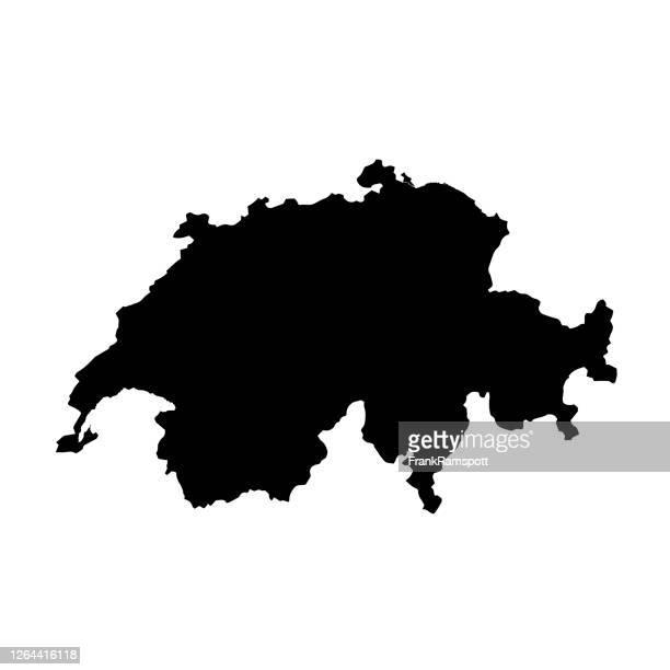 schweiz topographische karte alpha channel lakes - bodensee karte stock-grafiken, -clipart, -cartoons und -symbole