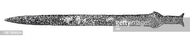sword of mycenae - mycenae stock illustrations