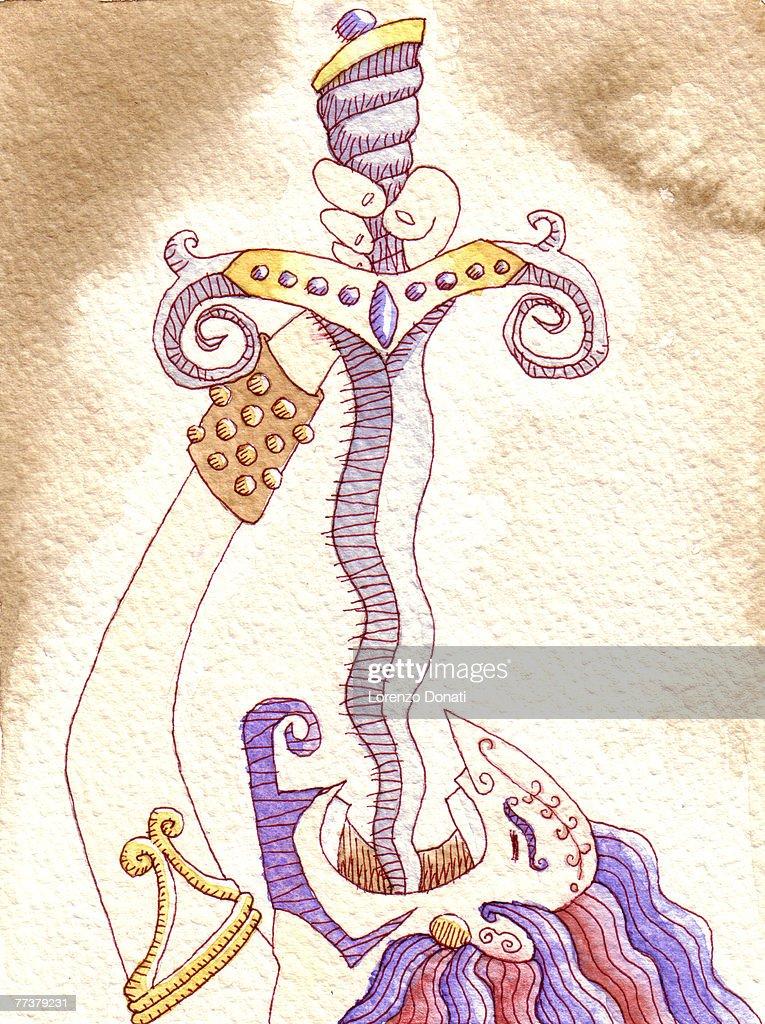 Sword swallower : Illustration