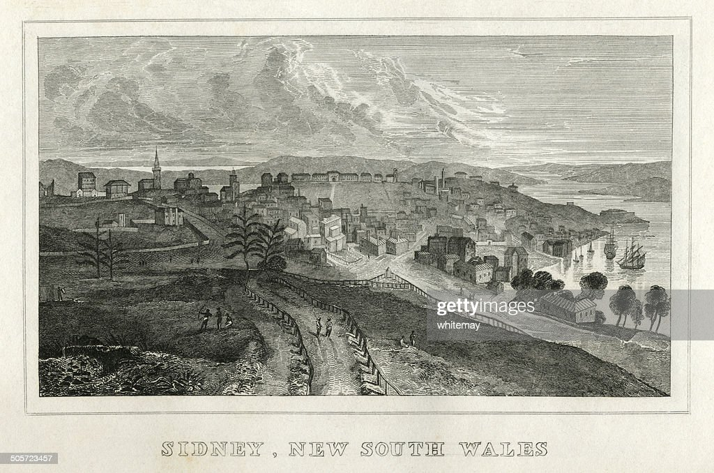 Sydney, Nova Gales do Sul (início do século XIX aviso) : Ilustração