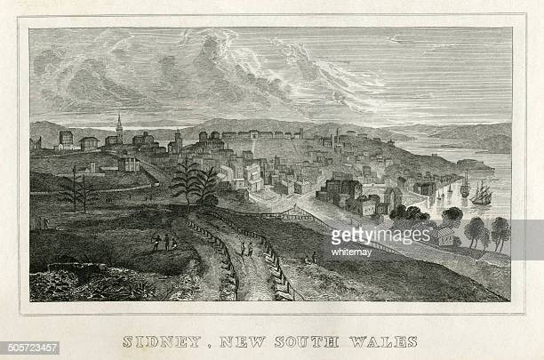 Sydney, New South Wales (early 19th century engraving)