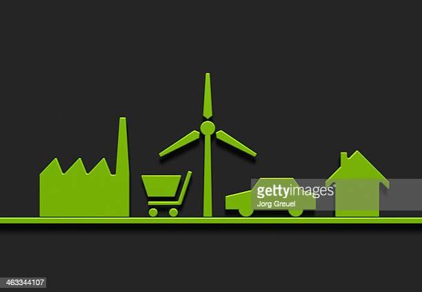 Symbols of a sustainable lifestyle