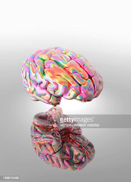 synaesthesia, conceptual artwork - neuroscience stock illustrations