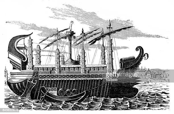 Syracusia - largest transport ship of antiquity, c.240 BC