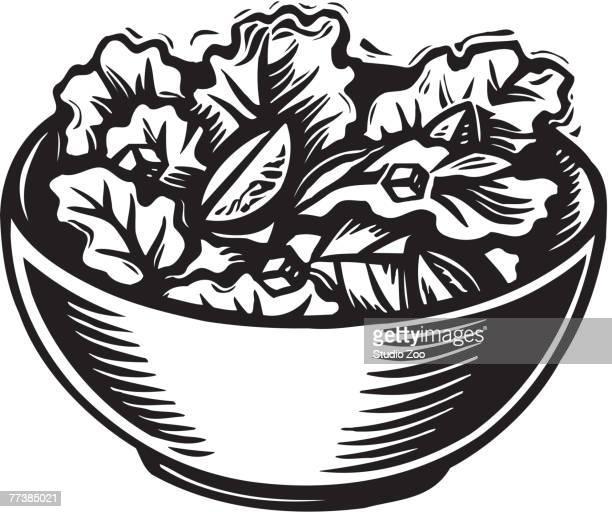 szo0564 - salad bowl stock illustrations