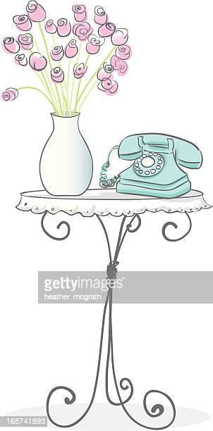 Tisch und Telefon