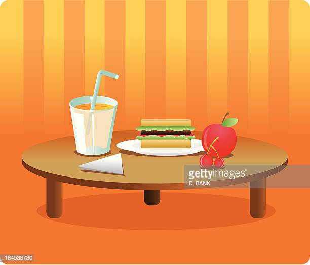 mesa con comida - toasted sandwich stock illustrations, clip art, cartoons, & icons
