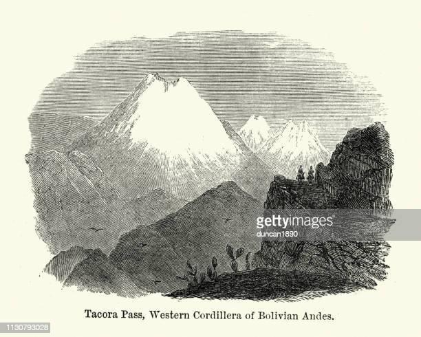 Tacora Pass, Western Cordillera of Bolivian Andes, 19th Century