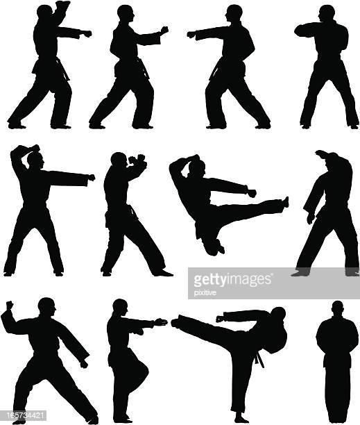 Taekwondo Silhouettes
