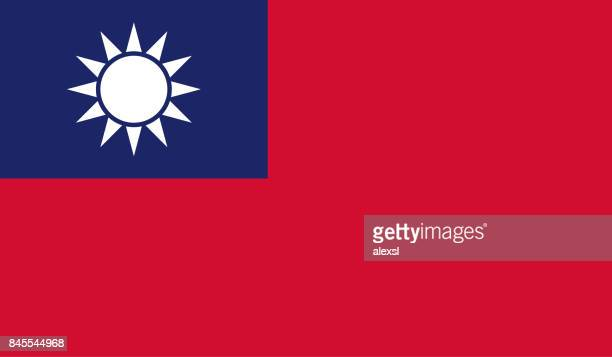 taiwan flag - politics and government stock illustrations, clip art, cartoons, & icons