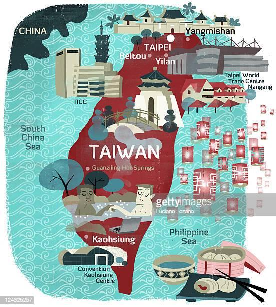 taiwan - taiwan stock illustrations