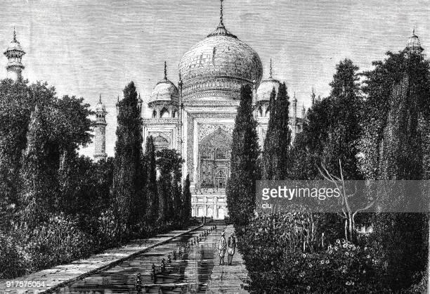 taj mahal - 1877 stock illustrations, clip art, cartoons, & icons