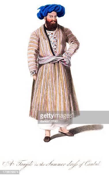 Tajik man in the summer dress of Kabul Period Costume