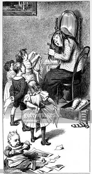 Taking care of naughty children - 1896