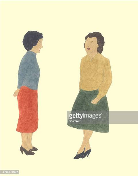 talking - two people stock illustrations