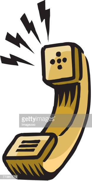 talking receiver - telephone receiver stock illustrations
