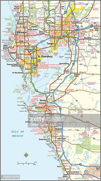 Map Of Tampa Florida Area.St Petersburg Florida Stock Illustrations And Cartoons