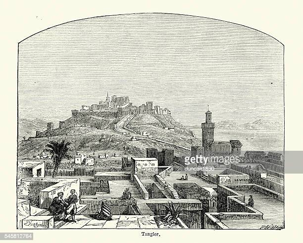 tangier, morocco in the 19th century - morocco stock illustrations, clip art, cartoons, & icons