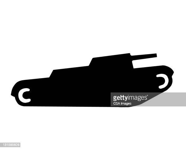 tank - demolished stock illustrations