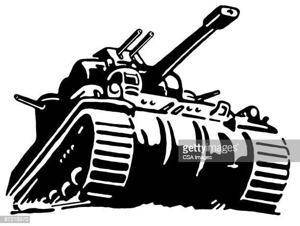 tank - war stock illustrations