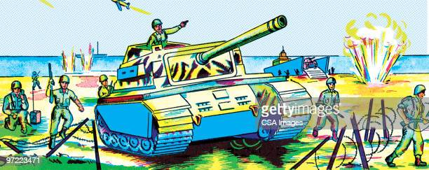tank - army soldier stock illustrations