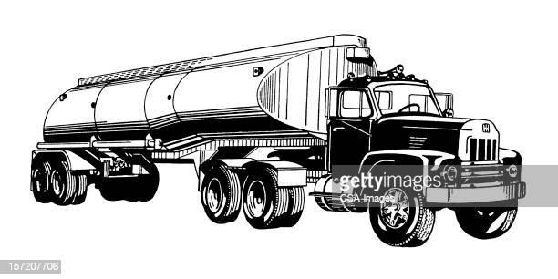 illustrations, cliparts, dessins animés et icônes de navire-citerne camion - chauffeur routier