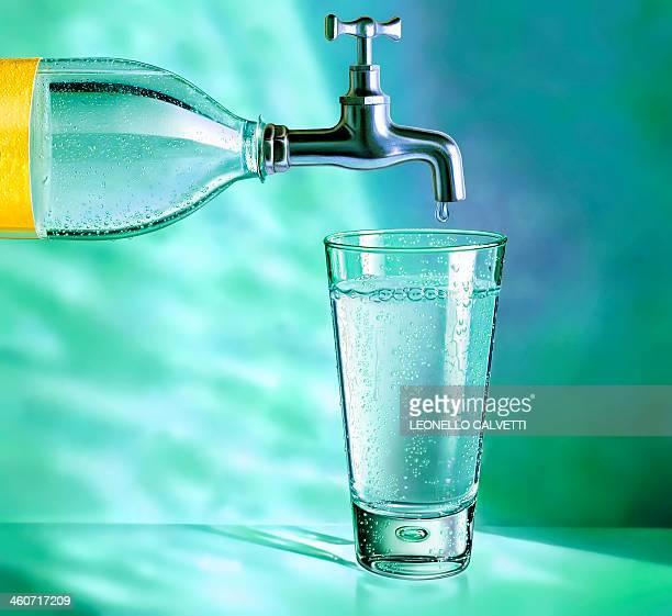 Tap water, conceptual artwork